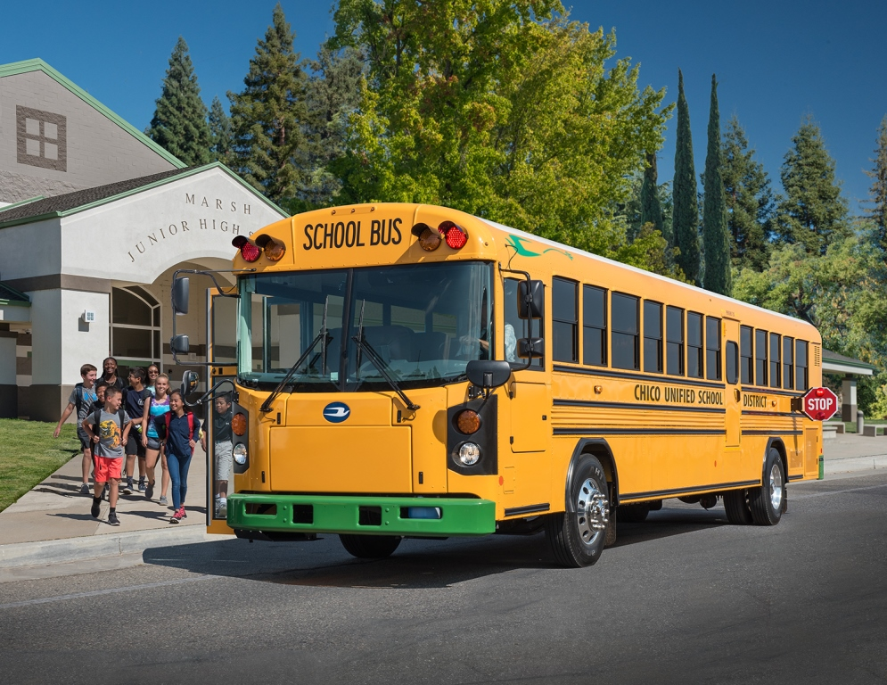 Bluebird electric school bus