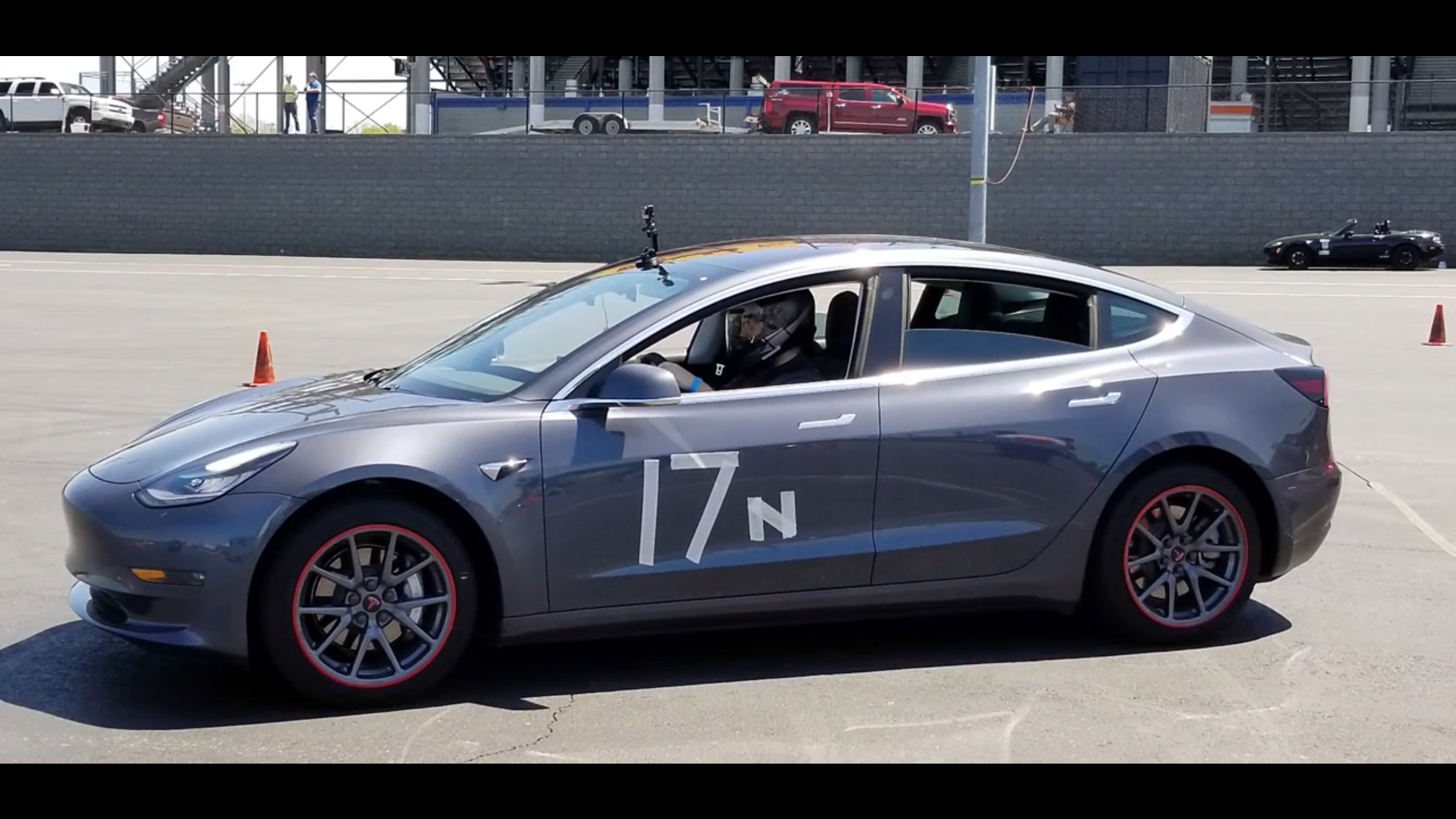 Model 3 autocross run 1
