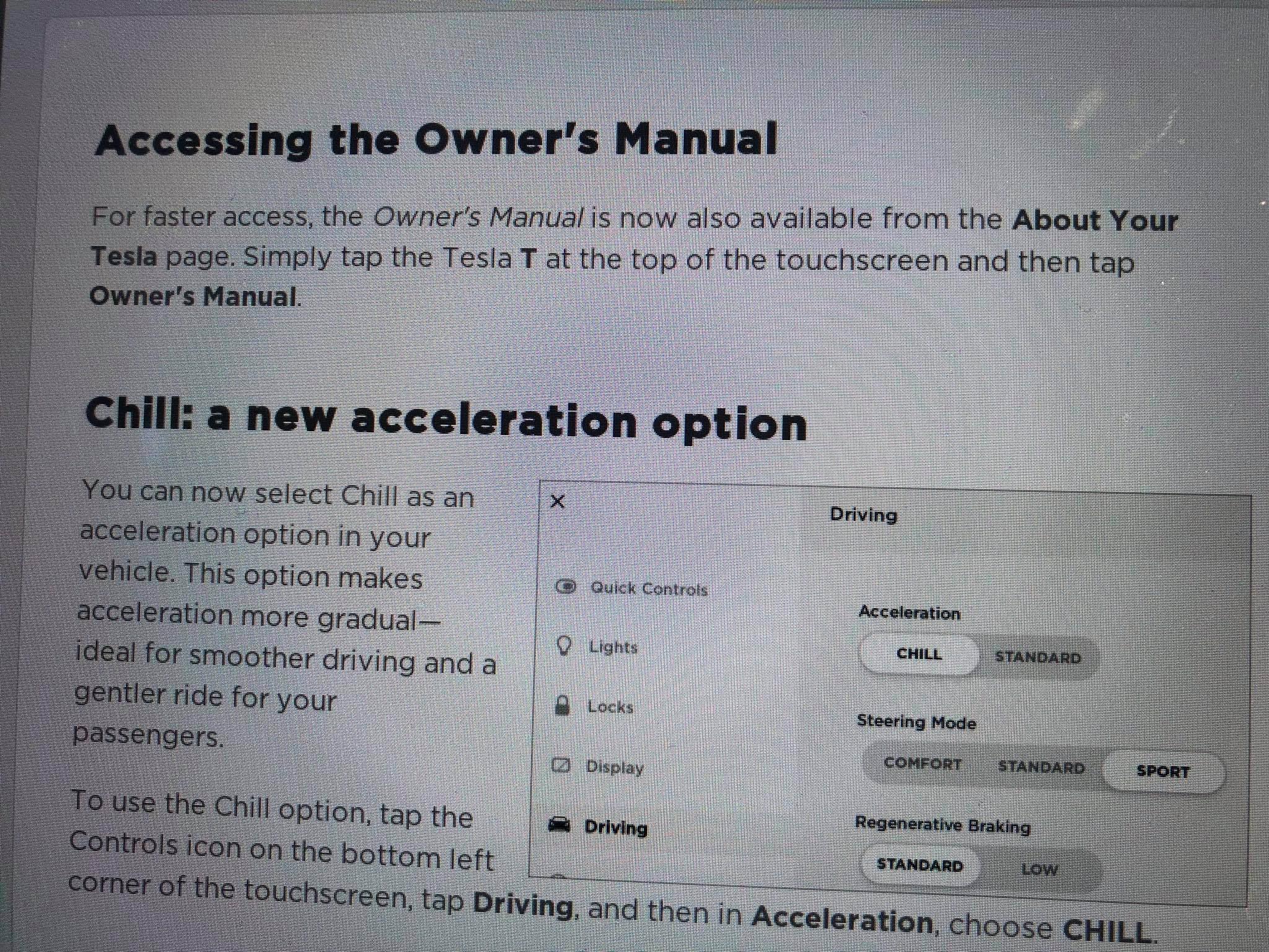 Model 3 chill mode [Credit: dirtyfries/Reddit]