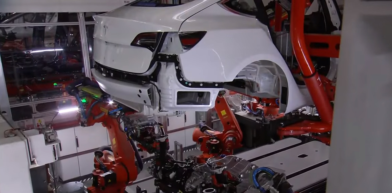 Model 3 production line 1