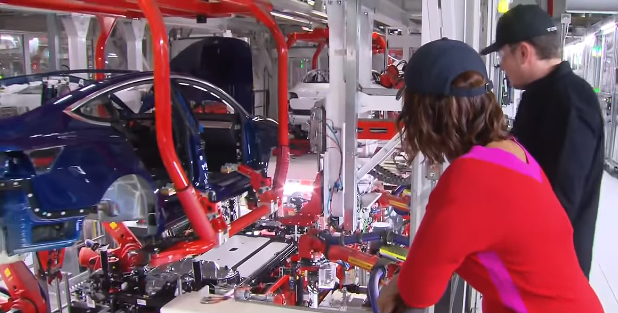 Model 3 production line 2