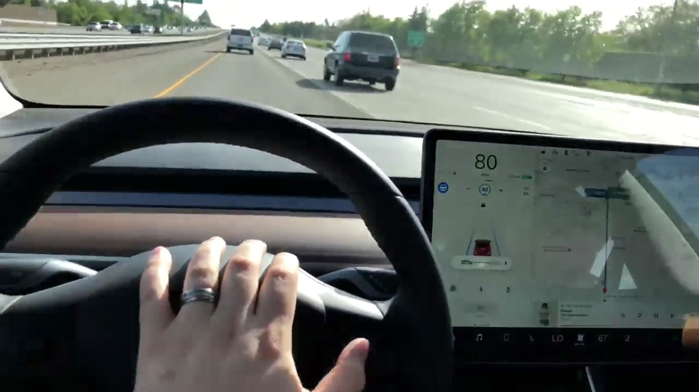 Tesla Model 3 new AP controls [Credit: Ivan Karpenko/Facebook]