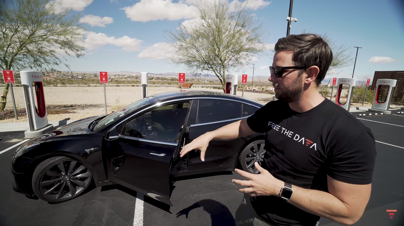 Tesla Model 3 real world range test [Credit: Ben Sullins/YouTube]