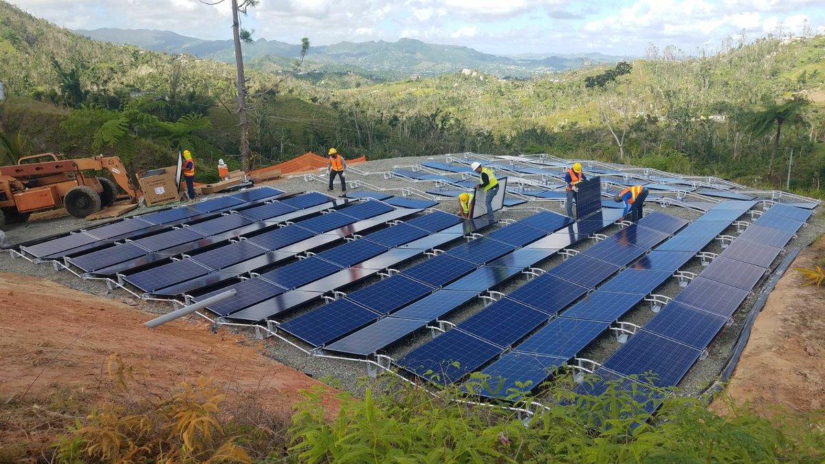 Tesla Puerto Rico solar batteries [Credit: Tesla]