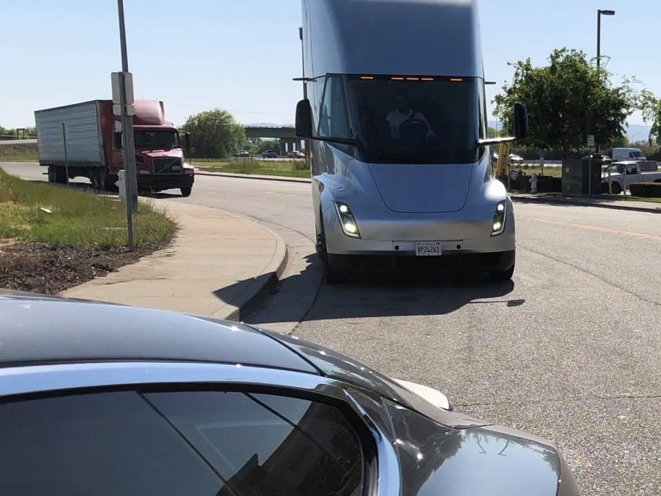 Tesla Semi Dixon CA sighting 1