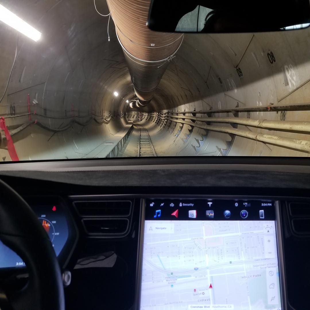 Tesla The Boring Company tunnel [Credit: Elon Musk/Instaram]