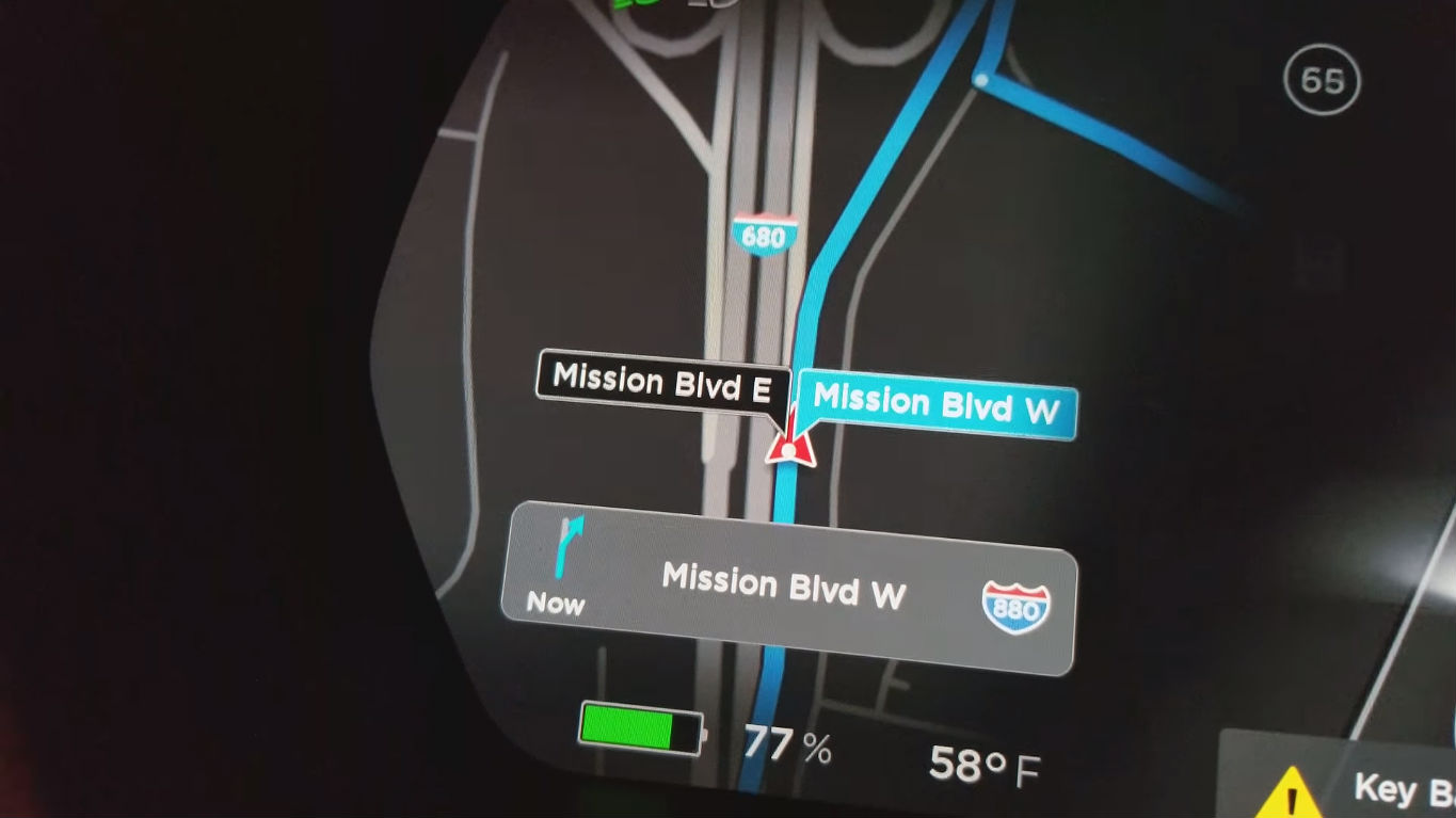 Tesla new navigation mature beta [Credit: u/hkibad/Reddit]