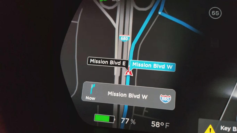 Tesla new navigation mature beta [Credit: u/hkibad/Reddit]