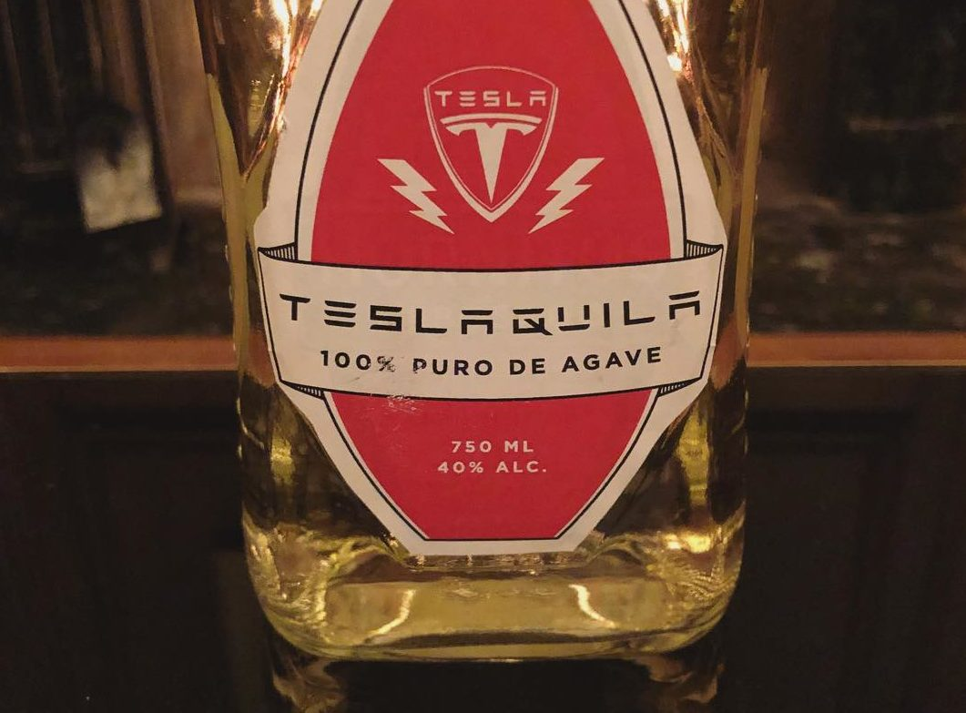 Teslaquila Bottle [Credit: Elon Musk/Instagram]