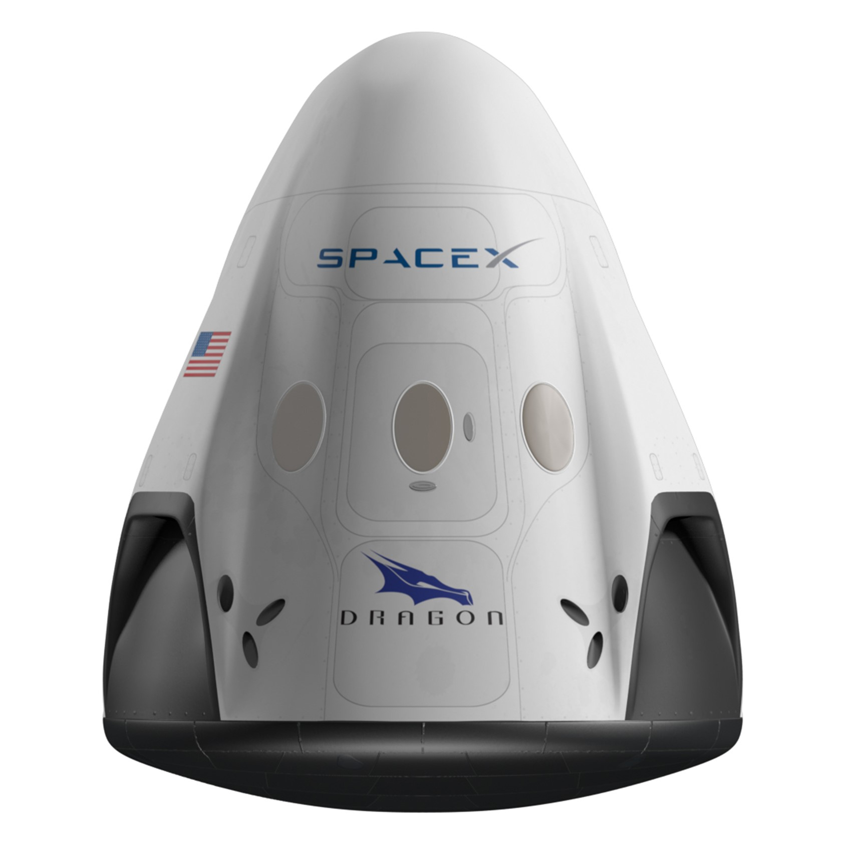 Crew Dragon render (SpaceX)