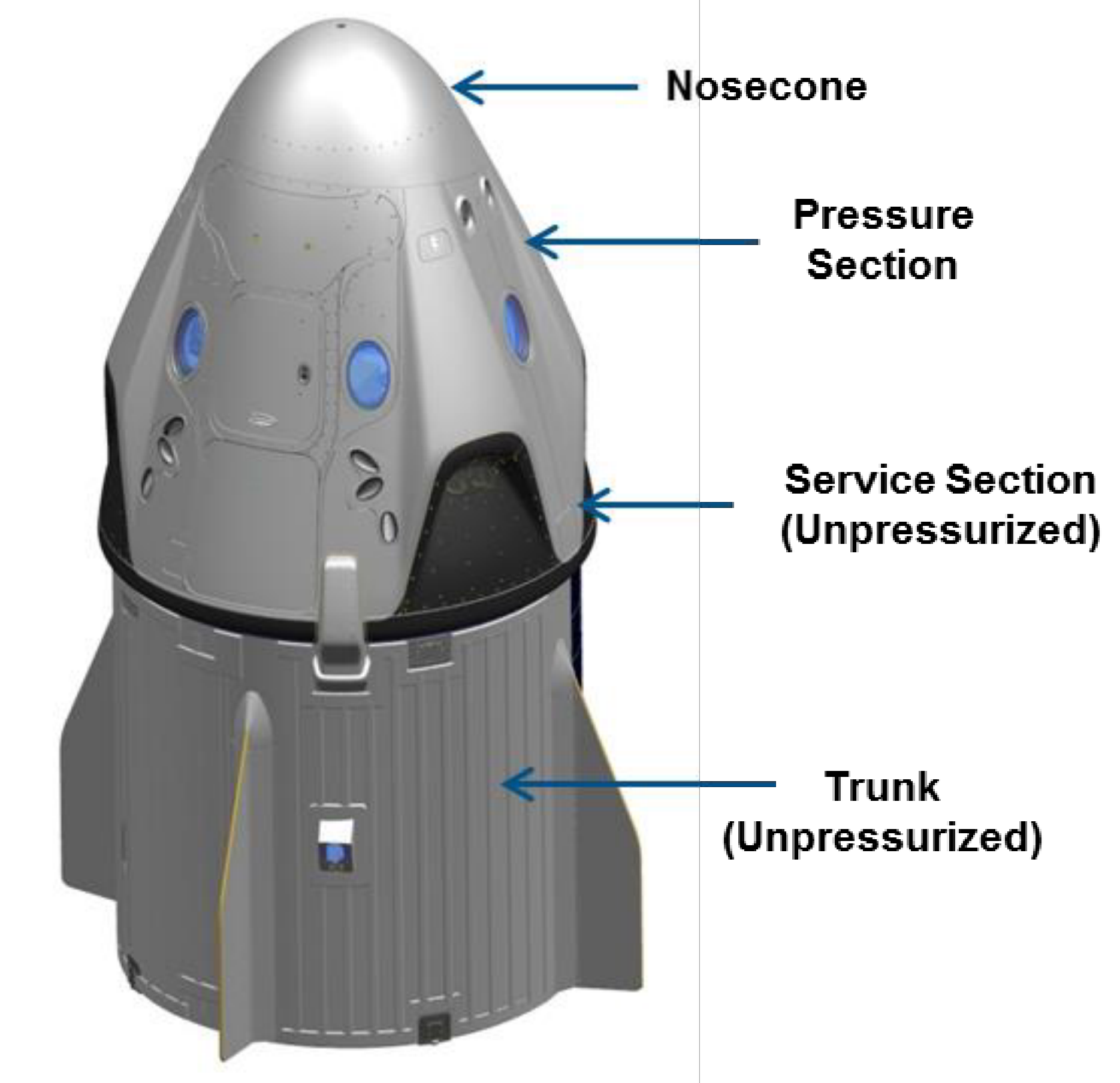 Crew Dragon updated CAD render (SpaceX)