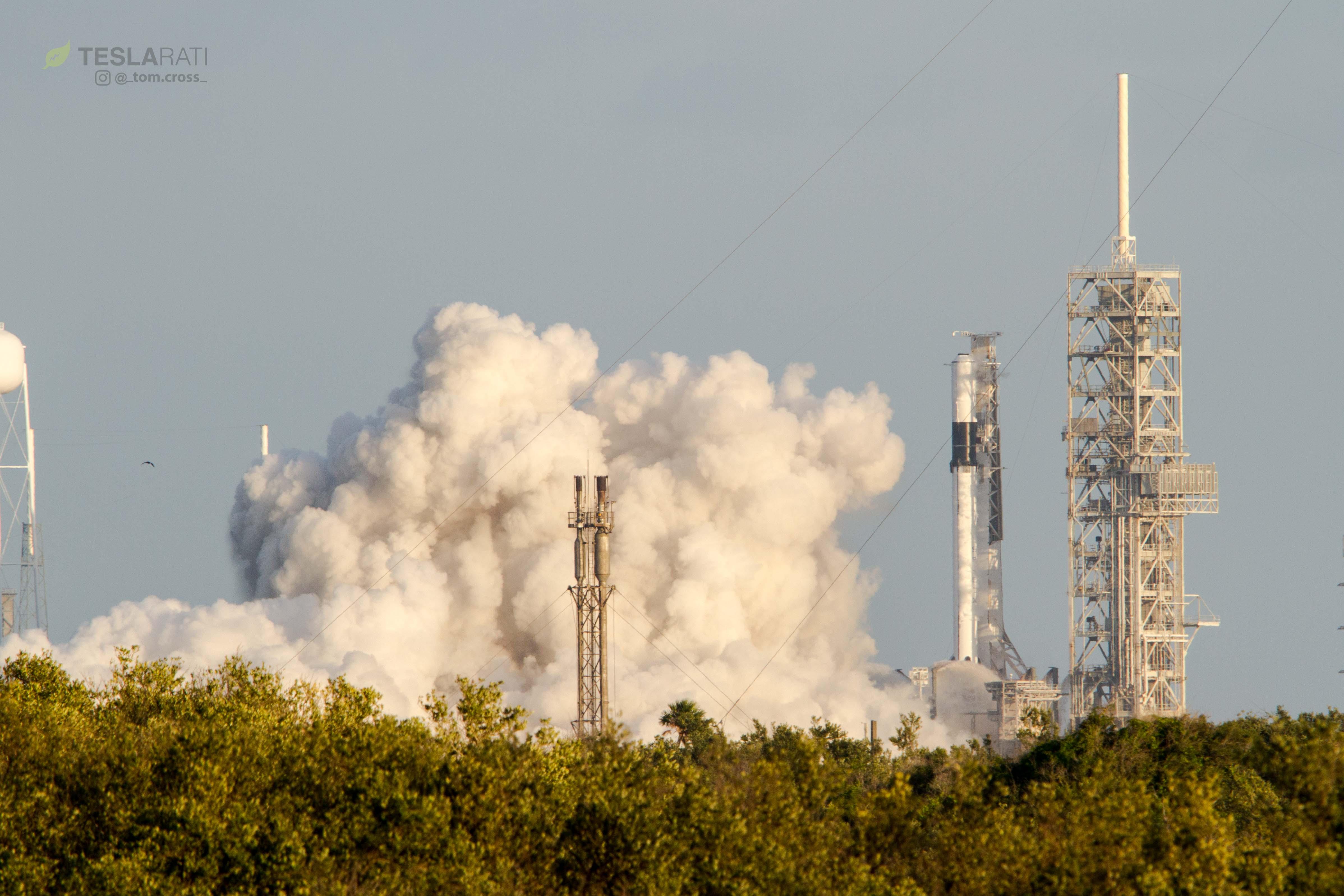 Falcon 9 Block 5 B1046 static fire (Tom Cross)