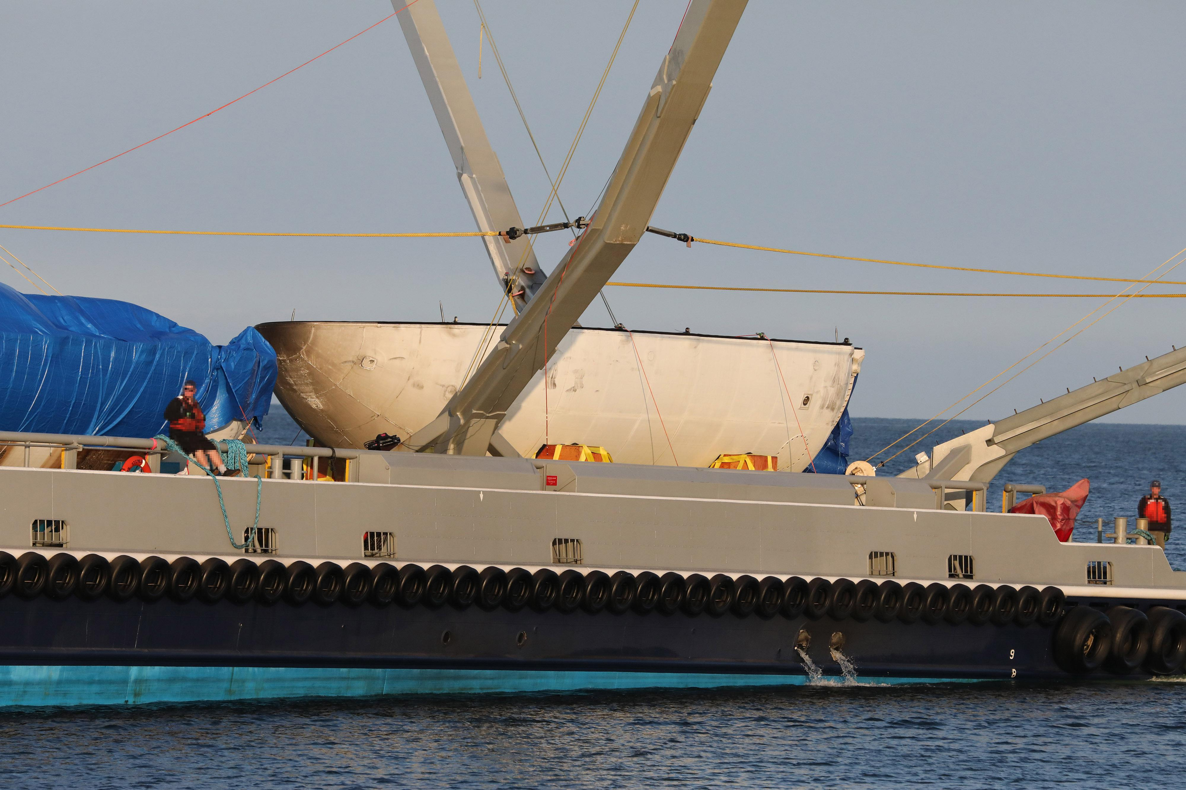 Spacex S Mr Steven Just Misses Catch Returns With Intact