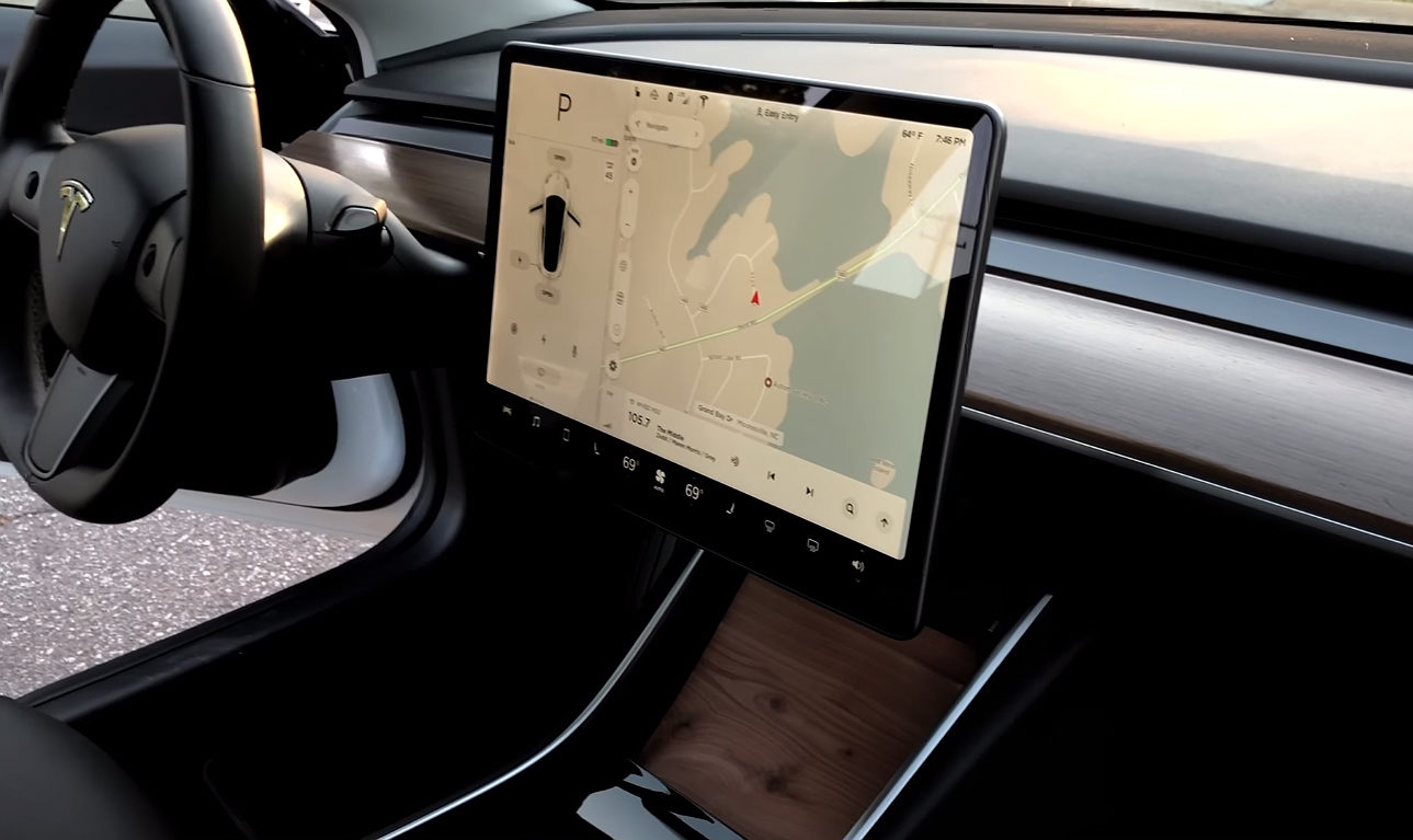 Tesla Model 3 Owner Customizes Wood Trim Interior In Diy