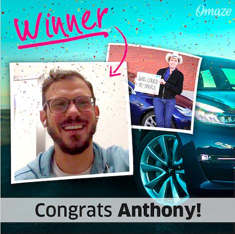 Omaze-Tesla-Winner