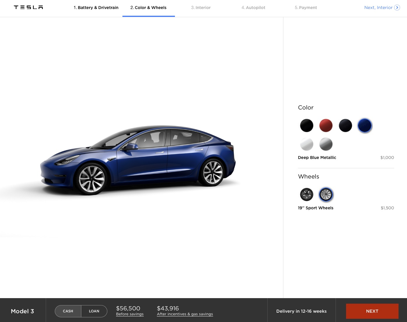 Step 2 – Color and Wheels