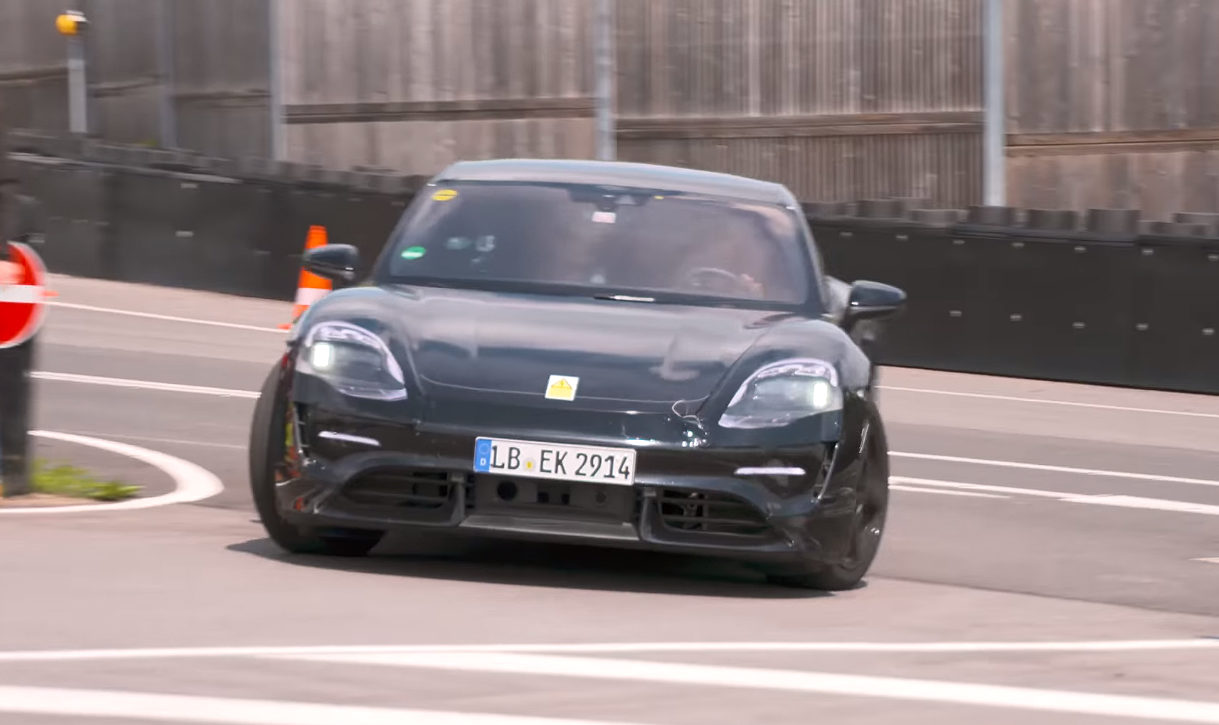 Tesla rival Porsche Taycan (Mission E) hits Nürburgring for high