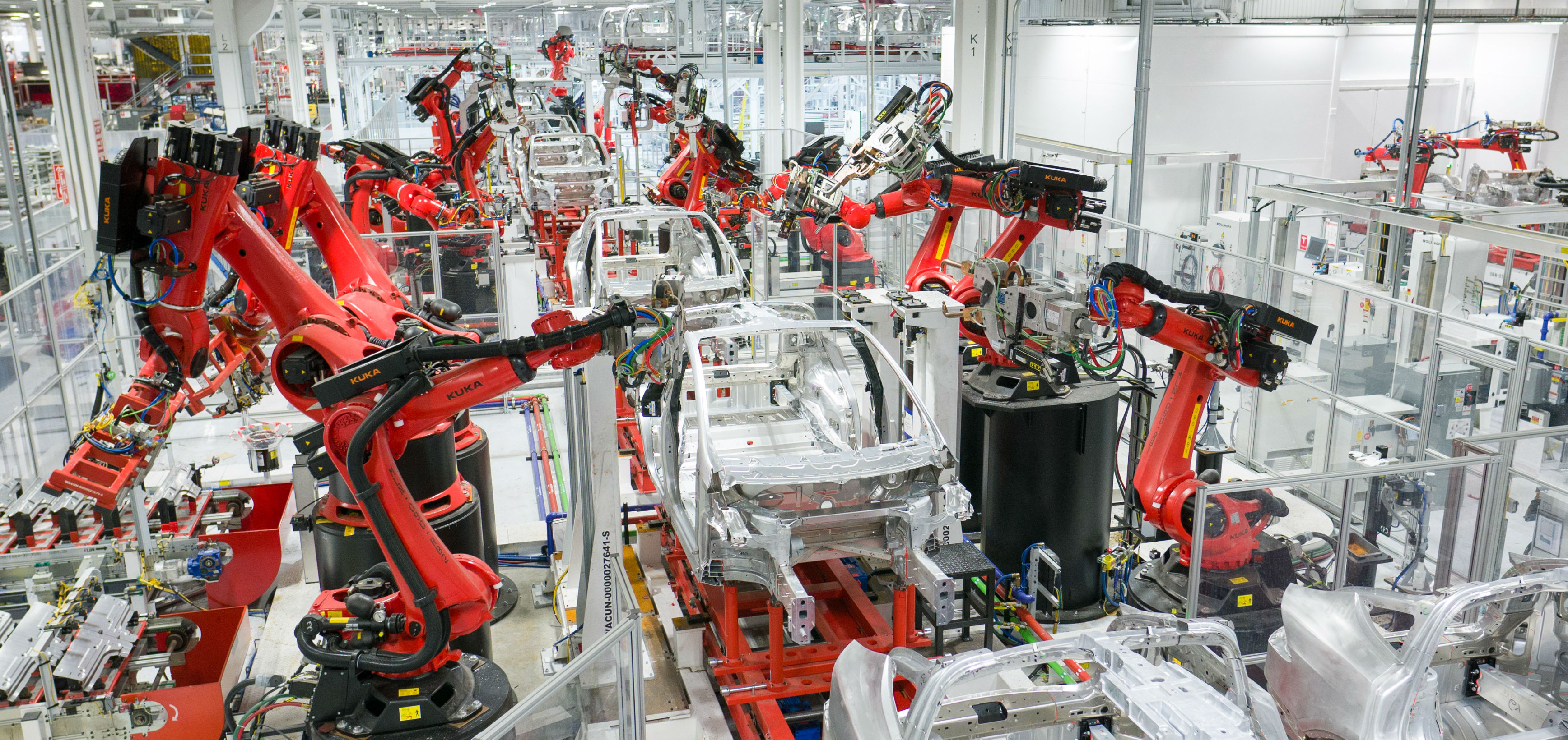 Tesla Body Assembly Line