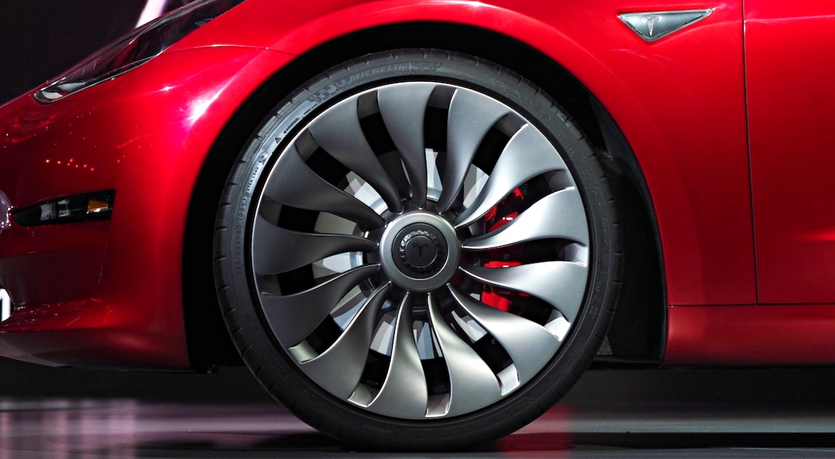 Tesla Model 3 Wheels 20 Inch Michelin Tires Teslarati