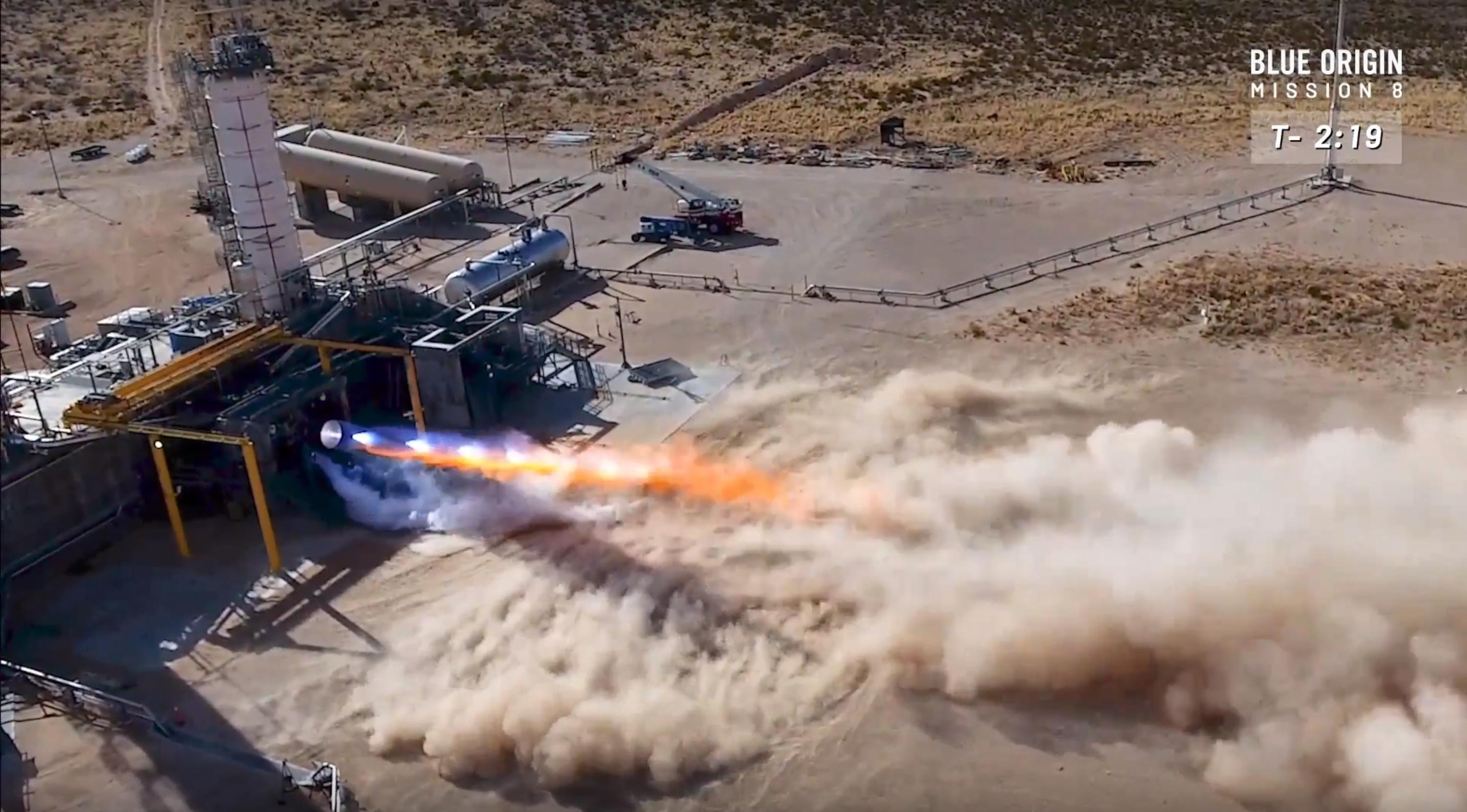 BE-4 testing April 2018 (Blue Origin)