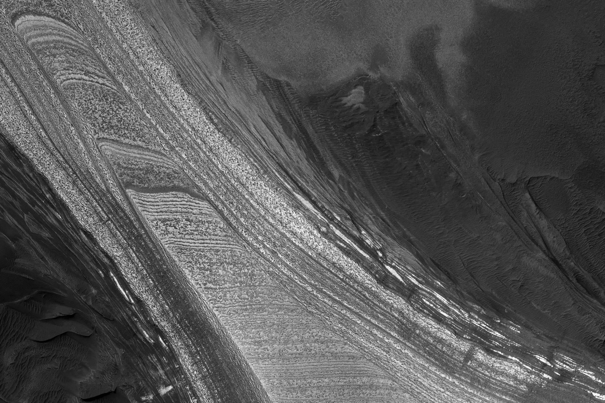 Mars polar ice cap (HiRISE)