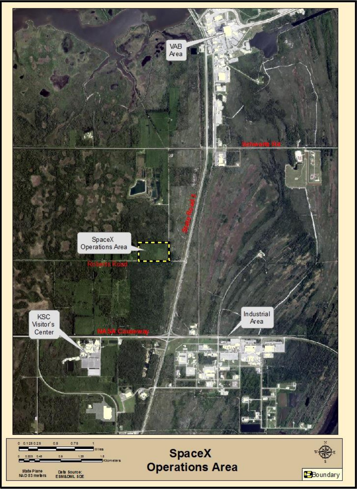 Roberts Rd Operations facility map (SpaceX) 1