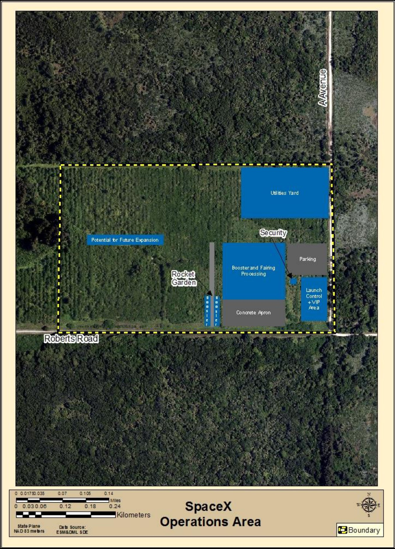 Roberts Rd Operations facility map (SpaceX) 3