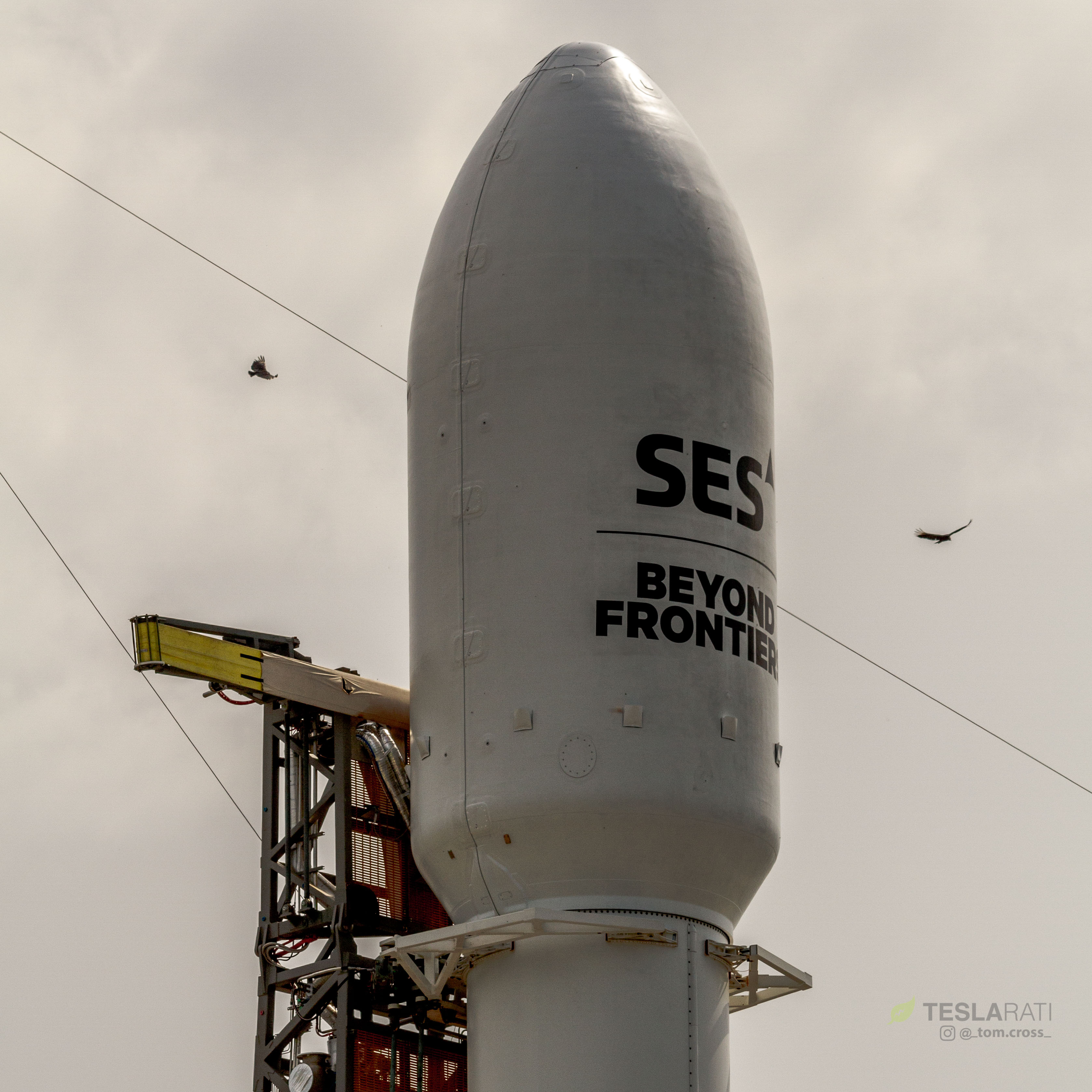 SES-12 fairing prelaunch (Tom Cross)