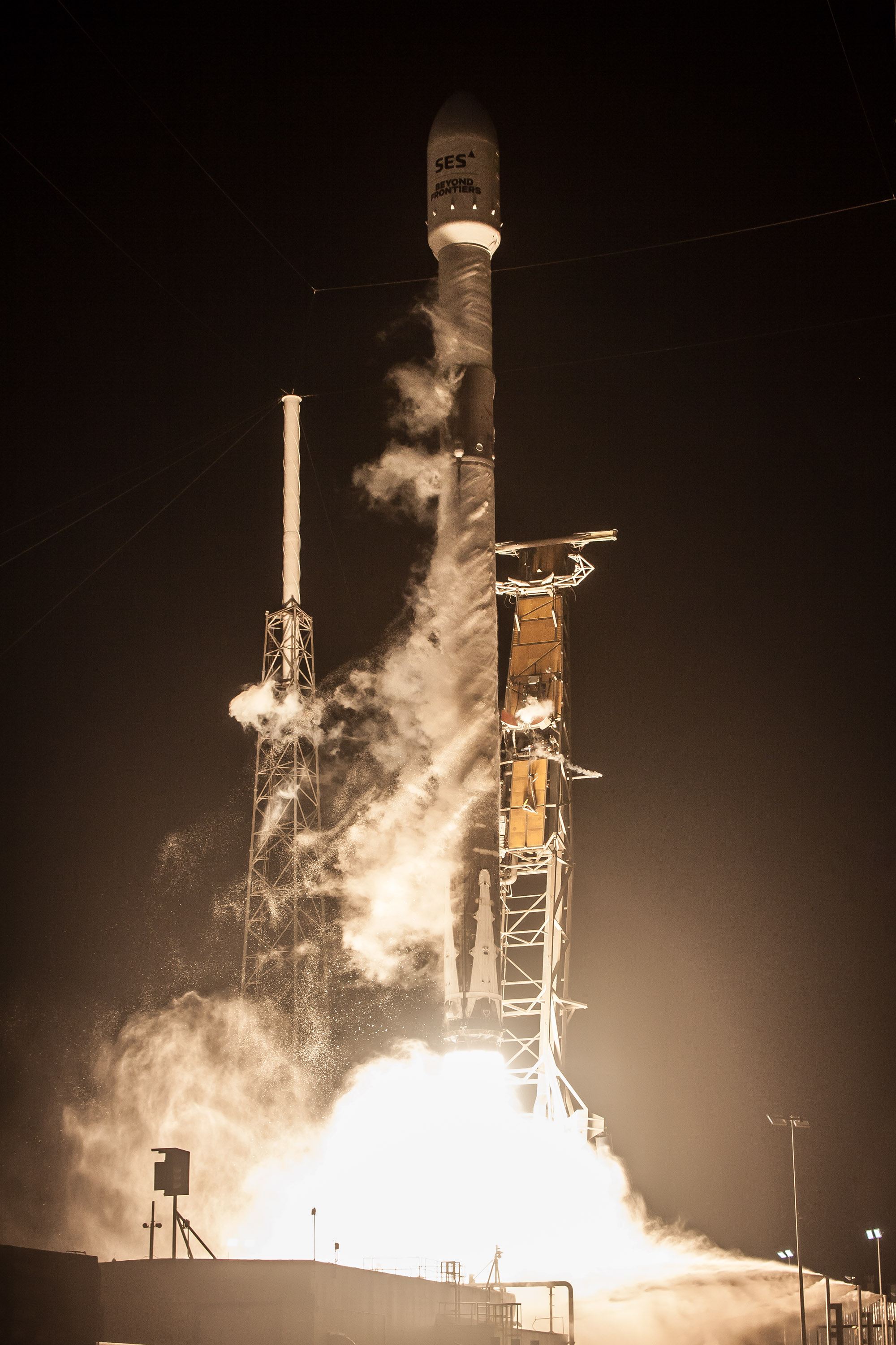 SES-12 liftoff (SpaceX) 1