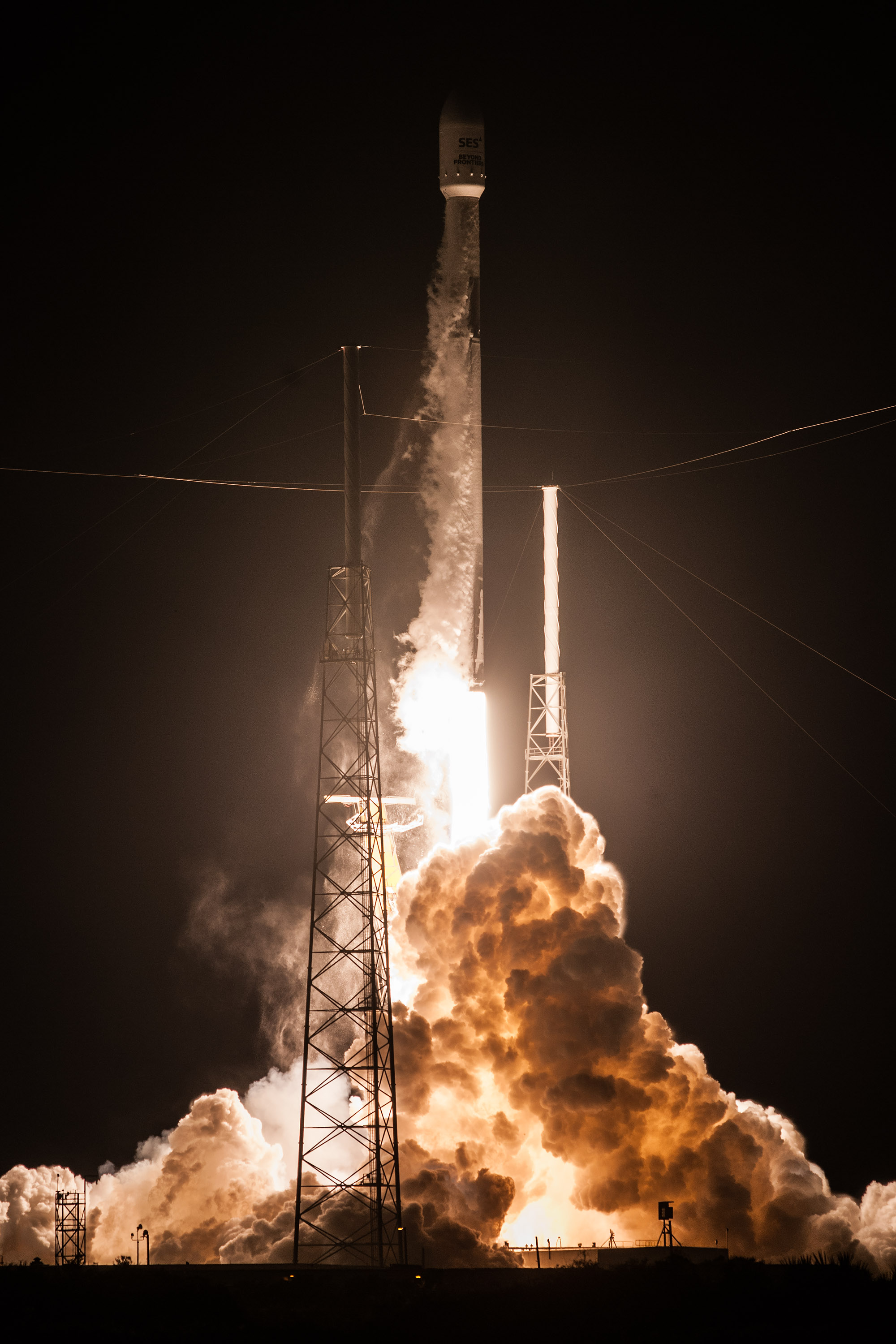 SES-12 liftoff (SpaceX) 2