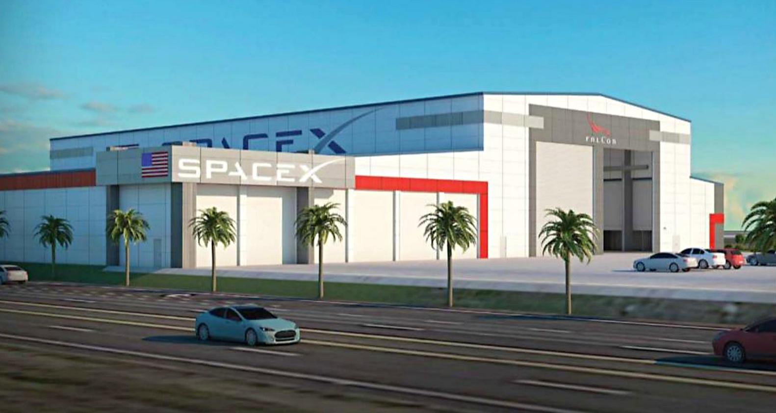 SpaceX-Falcon-Dragon-refurb-facility-floriday-splash