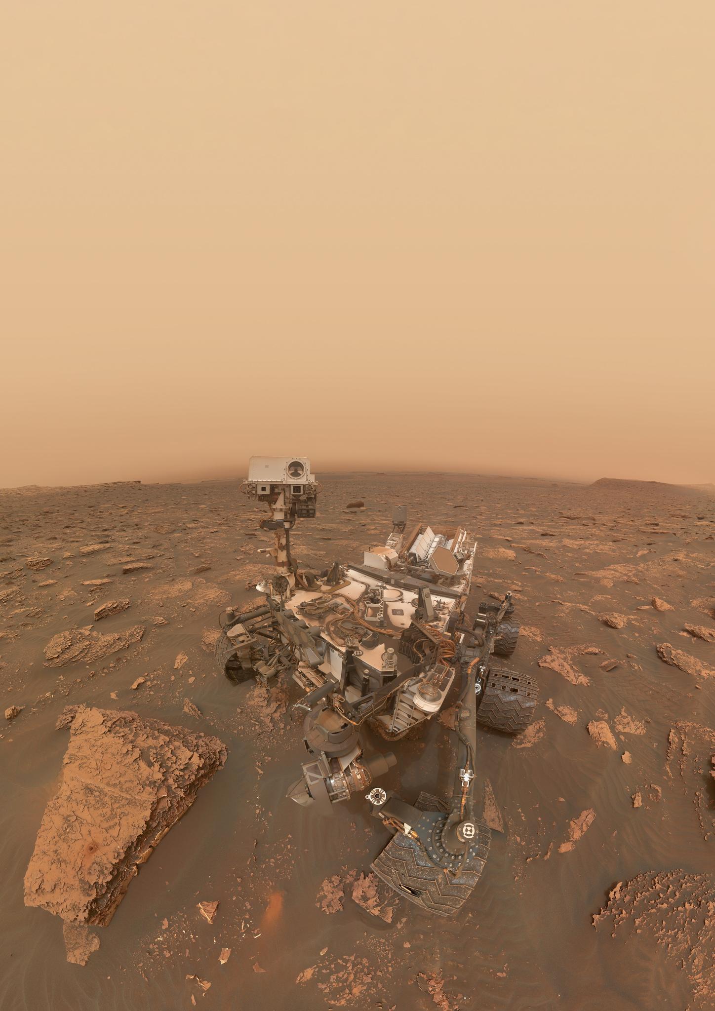 Mars Curiosity Rover Selfie Teslarati