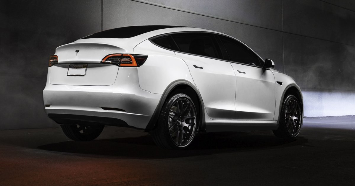 Tesla Model Y rendered to life from Elon Musk's latest teaser image