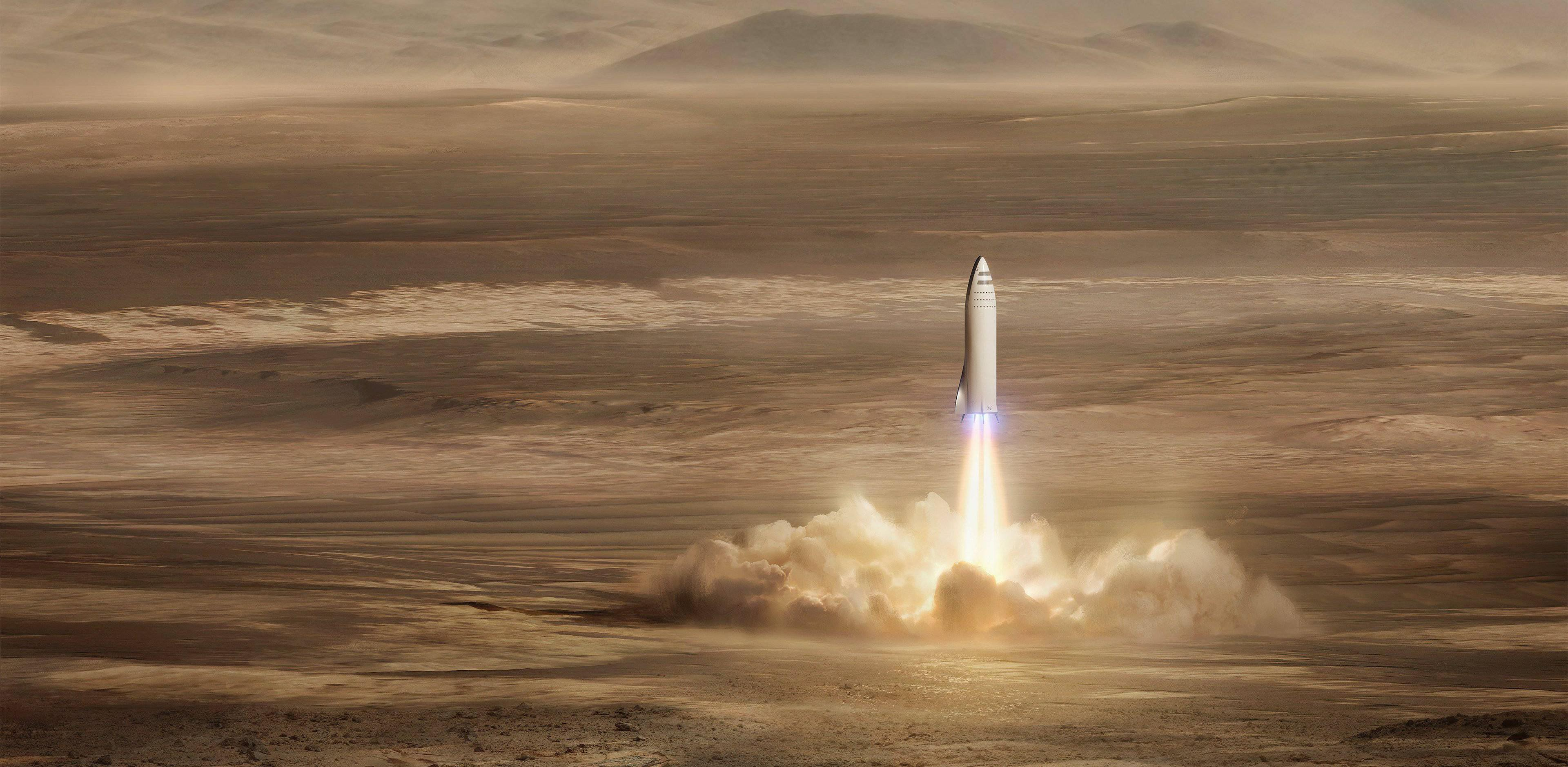 BFR to Mars (SpaceX) feature