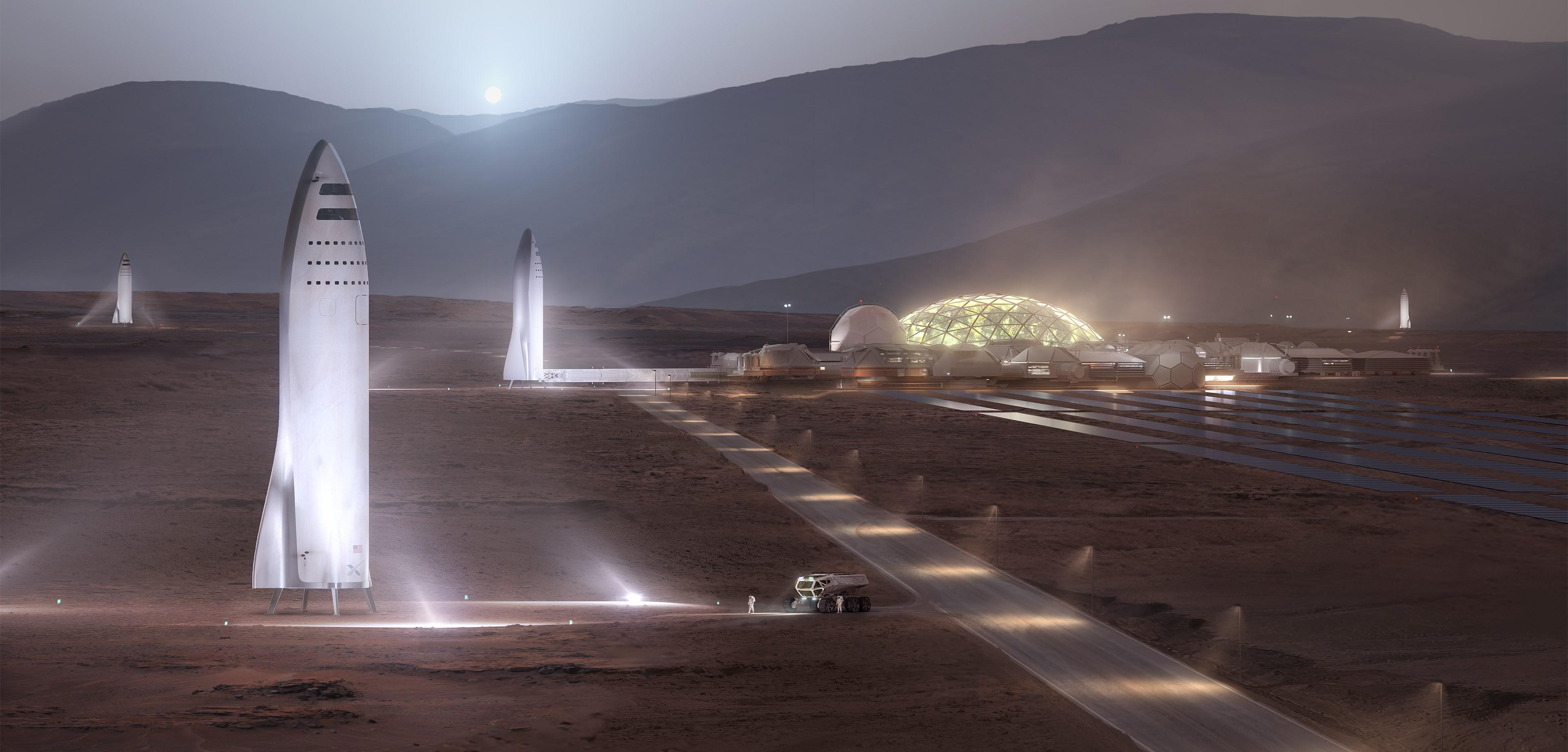 BFS colony on Mars (SpaceX)