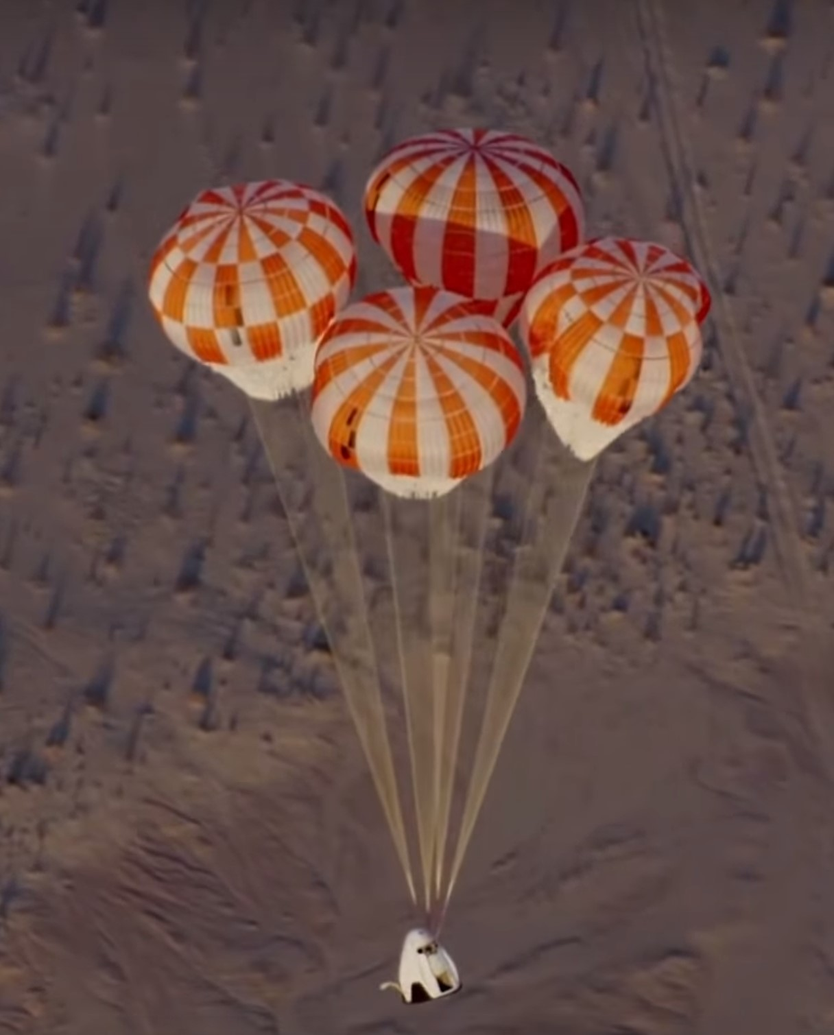 Crew Dragon parachute test (SpaceX)