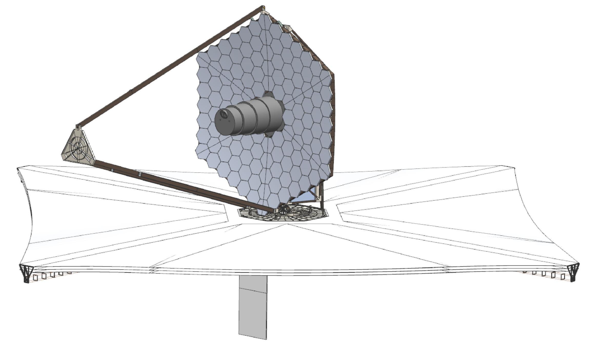 LUVOIR 15m mirror 70m sunshade (NASA)