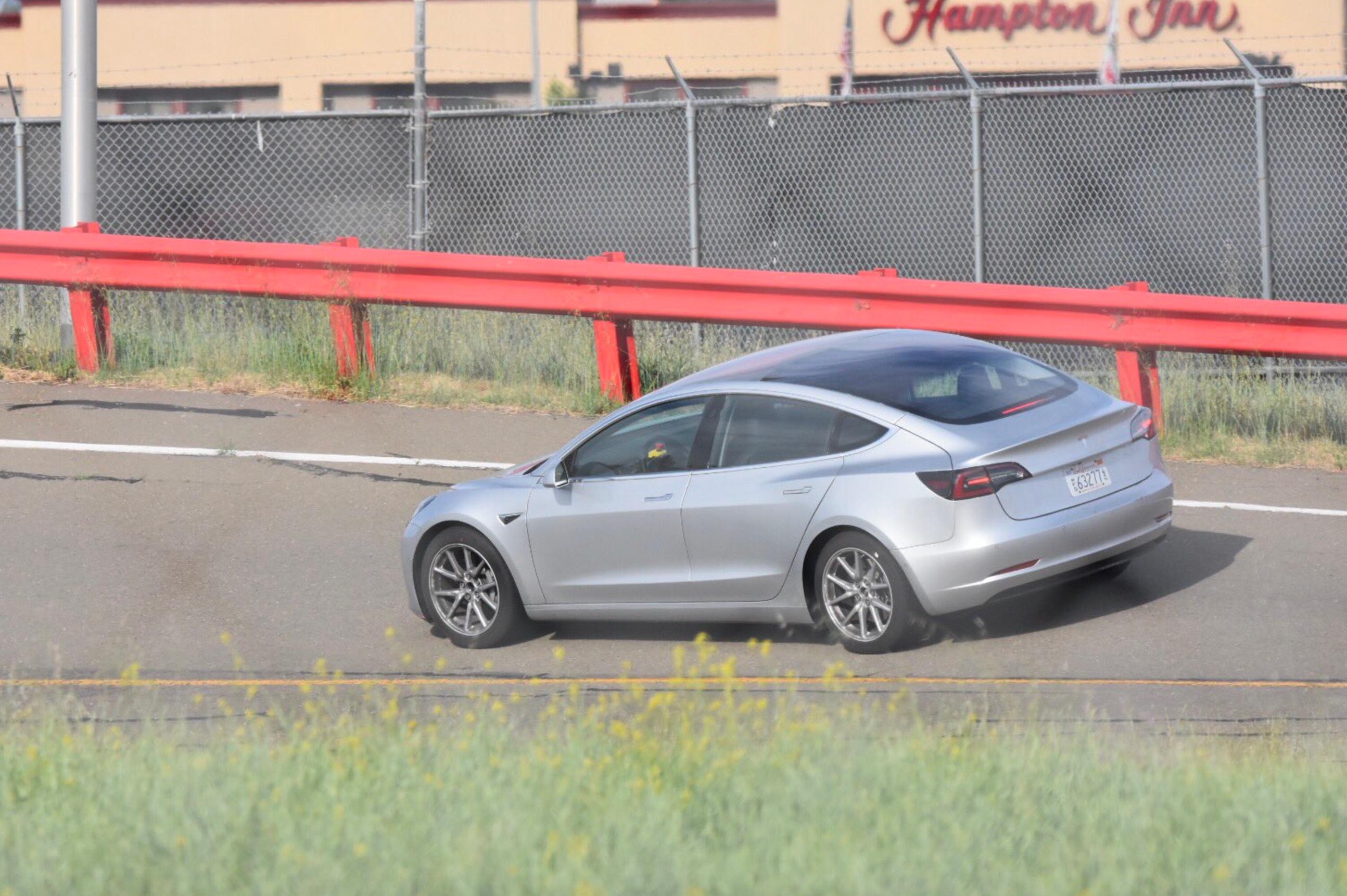 Silver-Tesla-Model-3-test-track-fremont-4