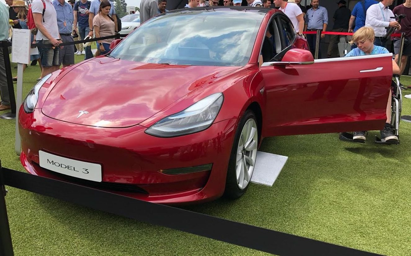tesla debuts model 3 to much fanfare at uk s goodwood festival of speed goodwood festival of speed