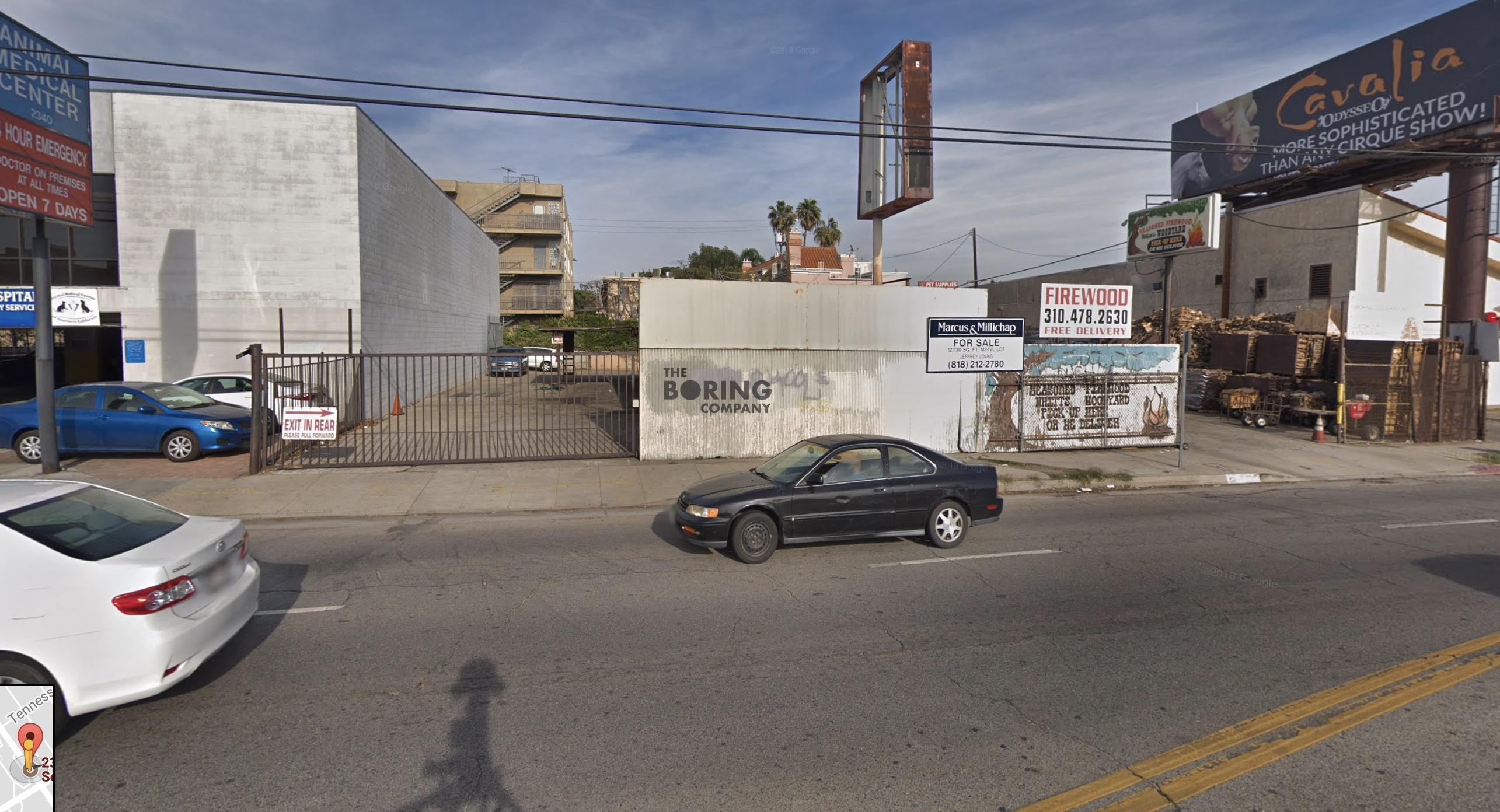 The Boring Company West LA pod station