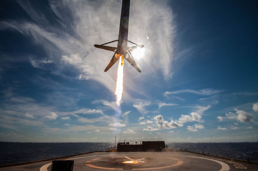 B1046 landing 1 on OCISLY (SpaceX)