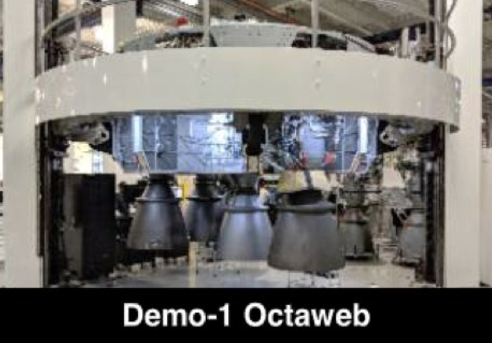 B1051 octaweb and Merlin installation (SpaceX)