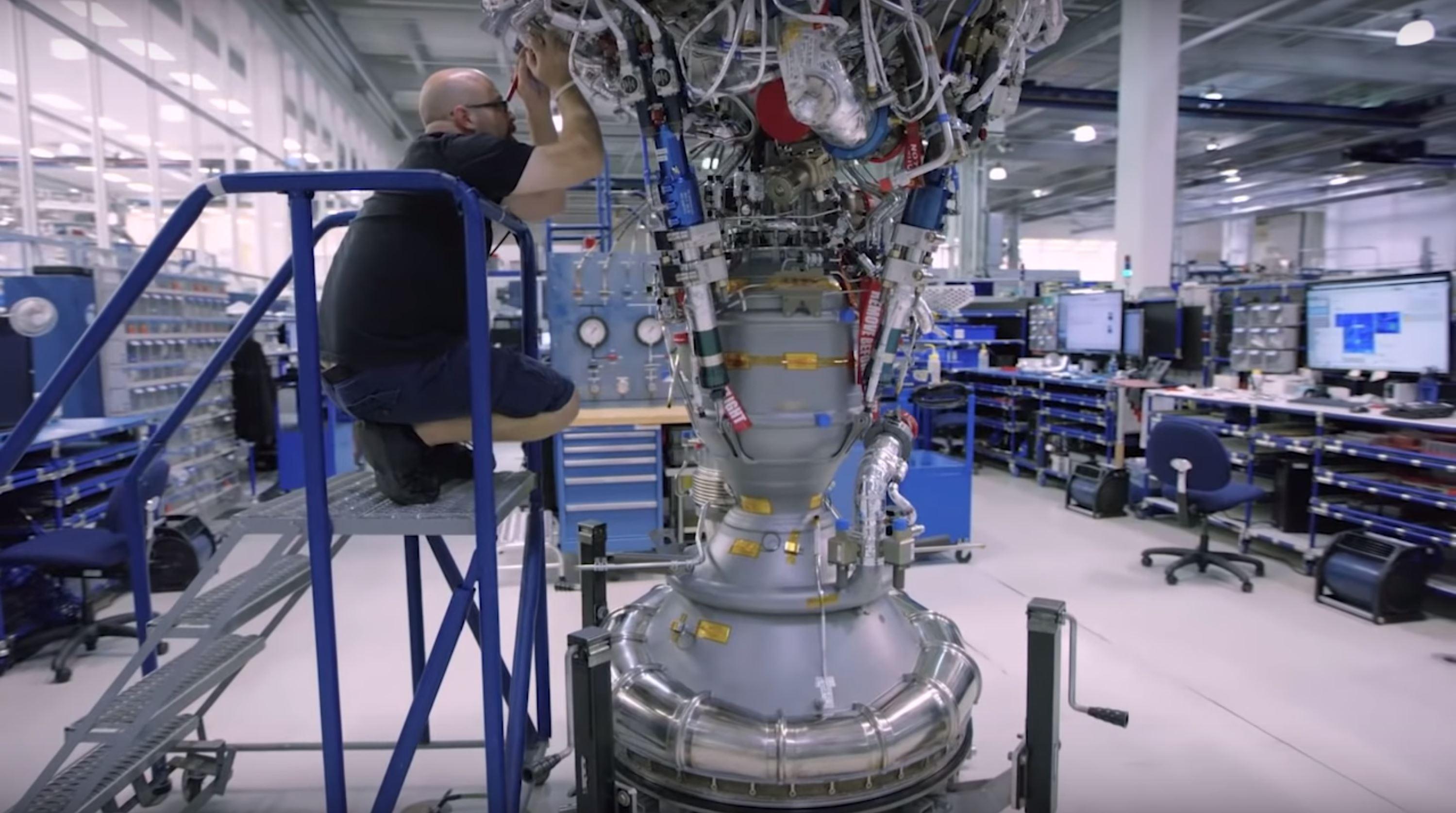 Block 5 Merlin 1D Vac work (SpaceX) 1