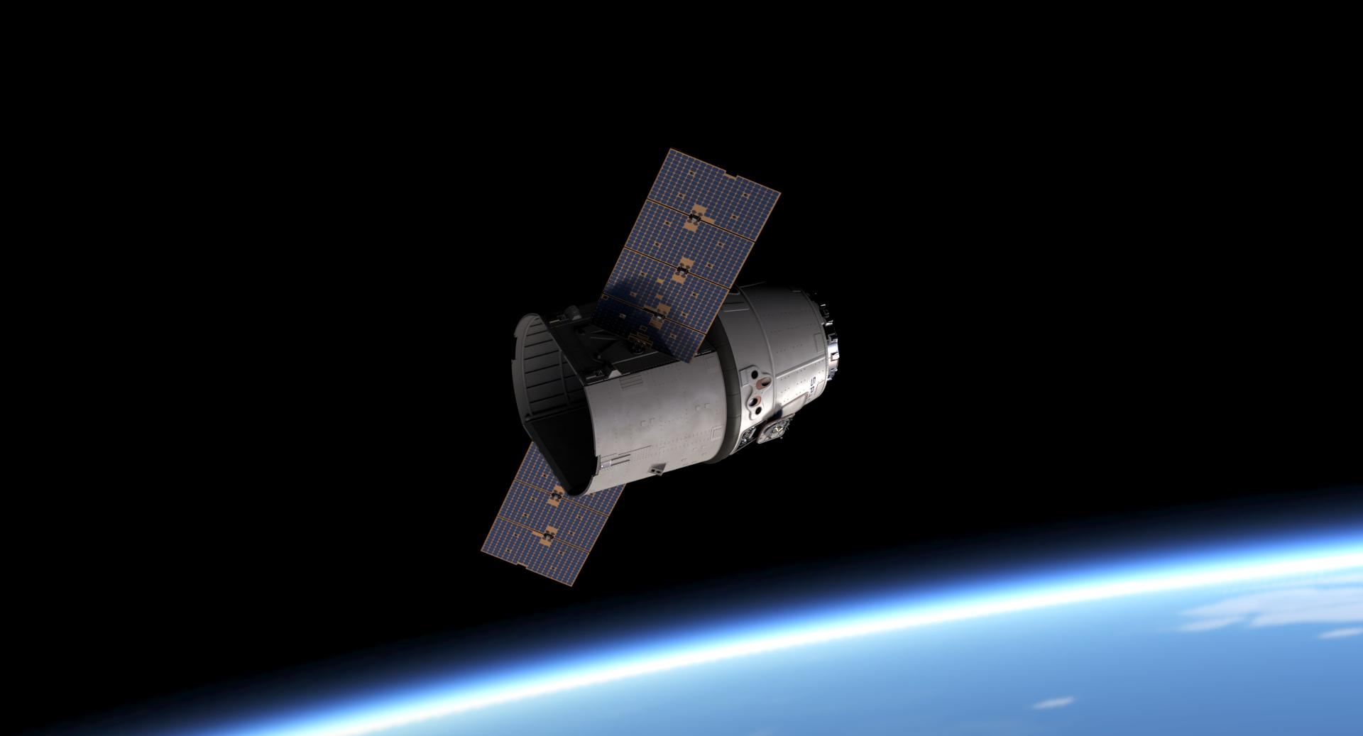 Cargo Dragon in orbit (Reese Wilson)