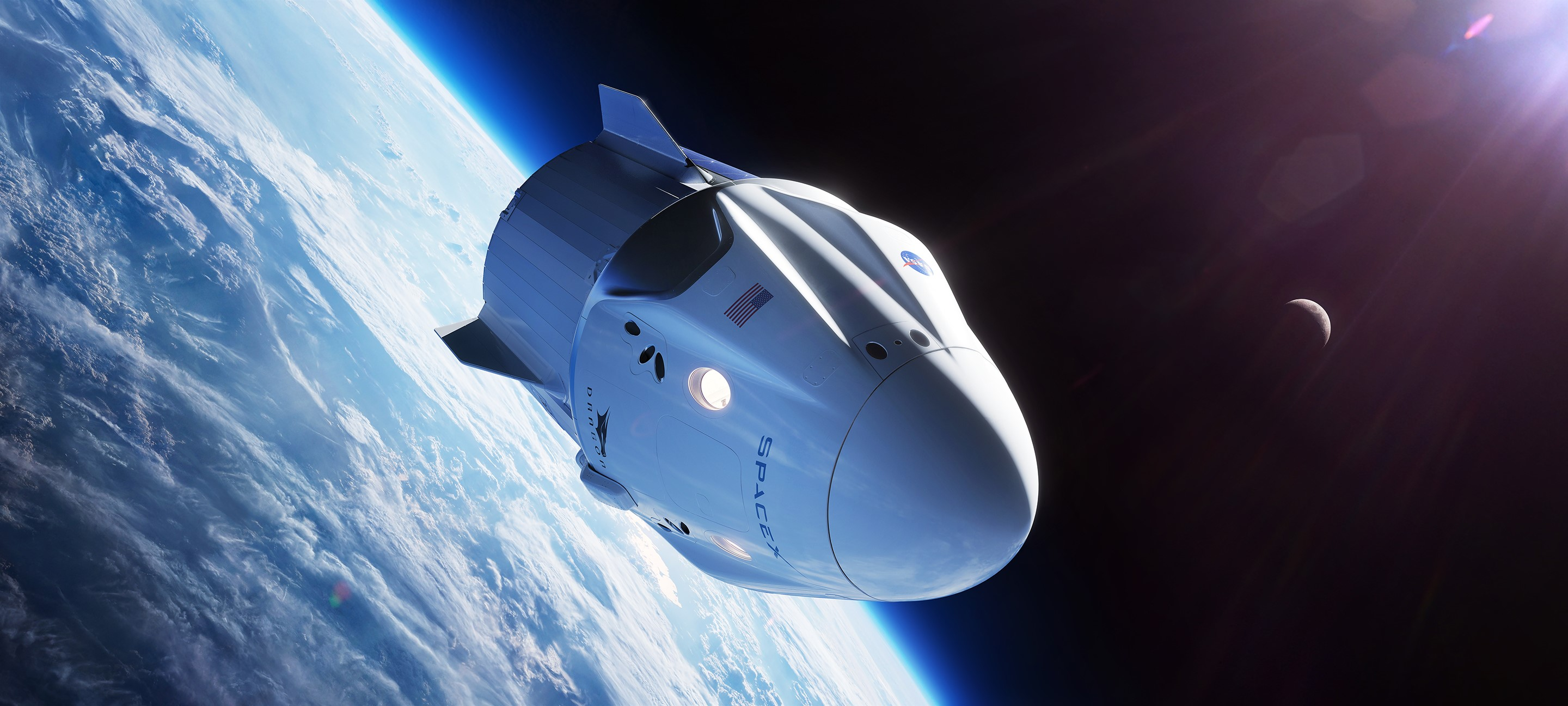 SpaceX Crew Dragon Banner