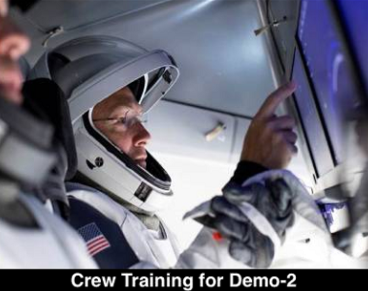 Crew Dragon astronaut testing in spacesuit (SpaceX)