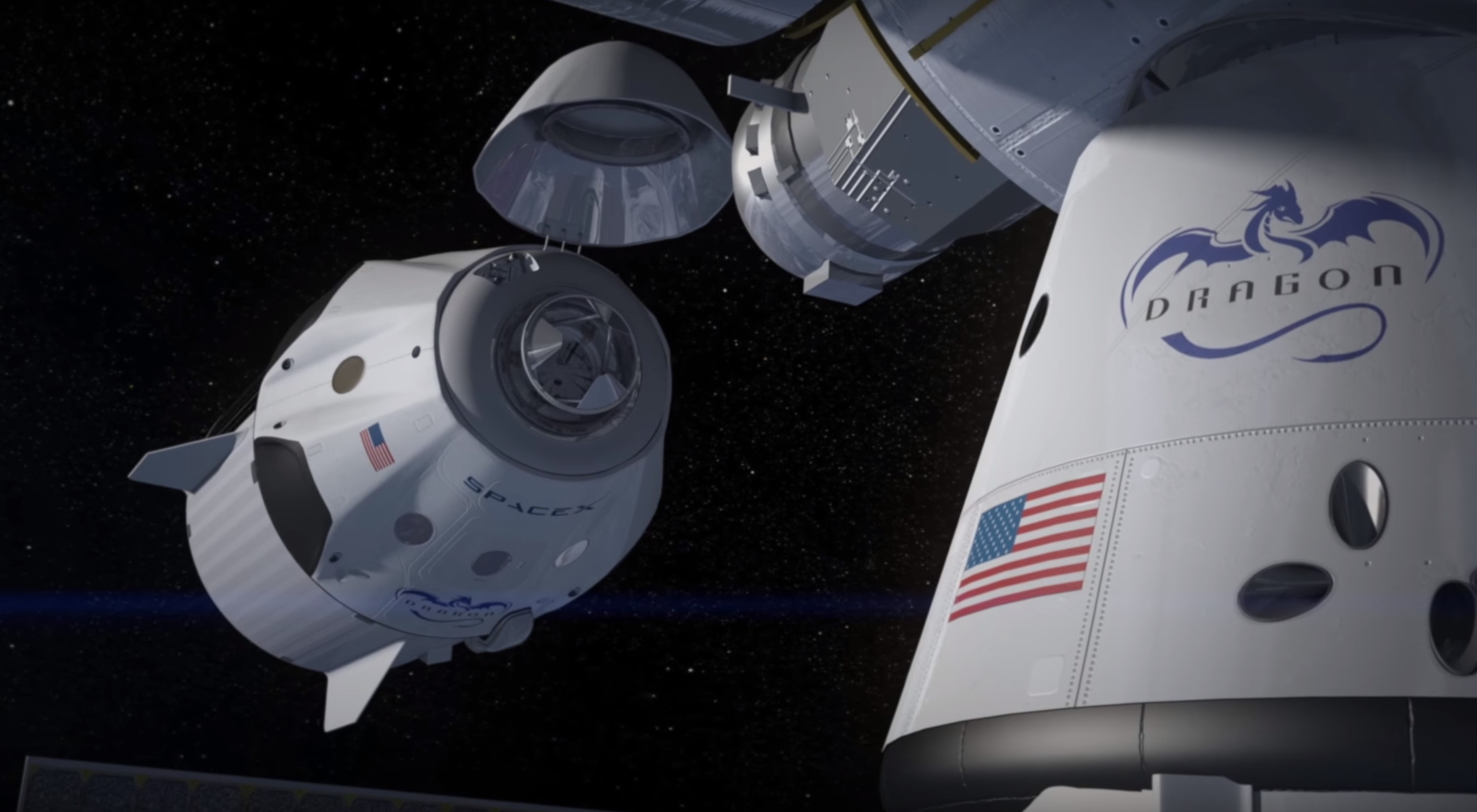 Crew Dragon docking 2014 (SpaceX) 1
