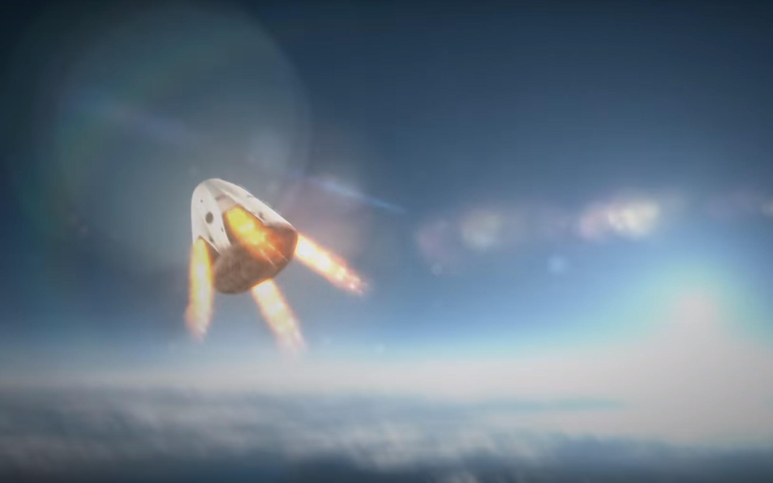Crew Dragon landing 2014 (SpaceX) 1