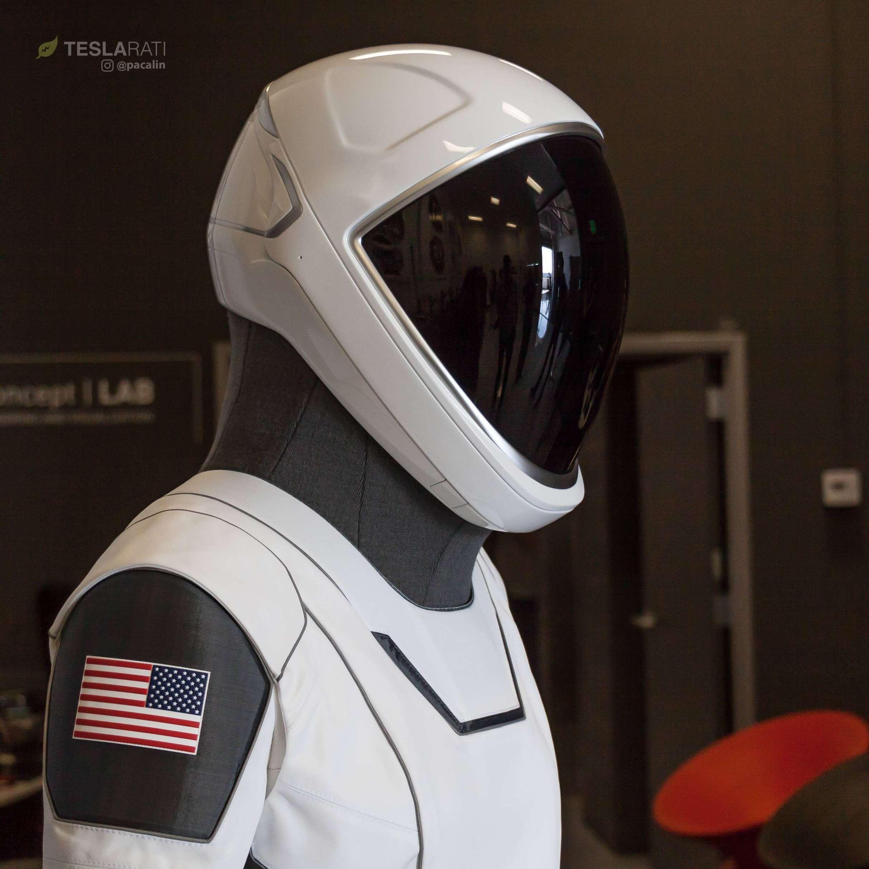 Crew Dragon Spacesuit 081318 SpaceX 3 C TESLARATI