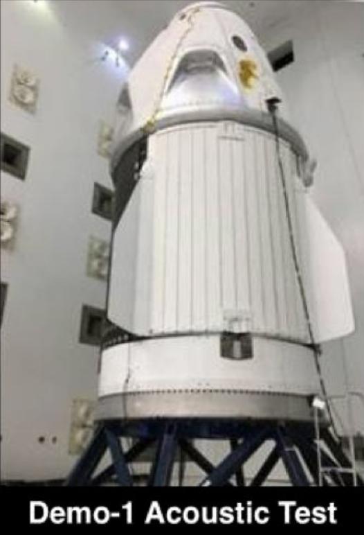 DM-1 acoustic testing Plum Brook (SpaceX)